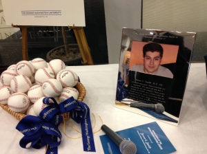 28 baseballs to represent Steven's 28th birthday