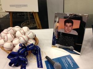 28 baseballs to represent Steven's 28th birthday